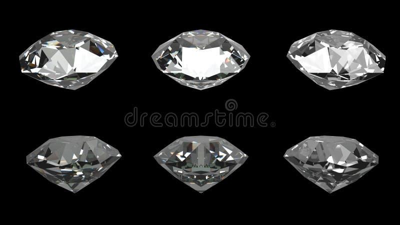 Fondo nero dei diamanti immagini stock