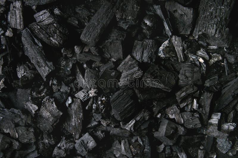Fondo nero del carbone immagini stock libere da diritti