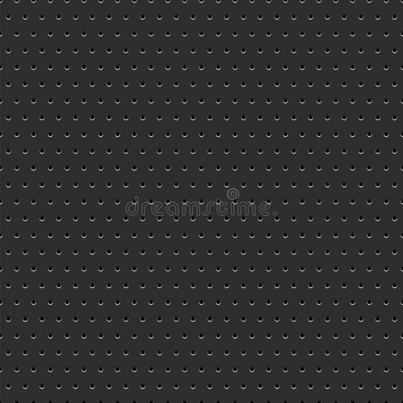 Fondo nero del metallo punteggiato estratto illustrazione di stock