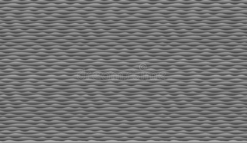 Fondo nero delle onde Linee senza cuciture semplici e eleganti della curva del modello Illustrazione di vettore illustrazione vettoriale