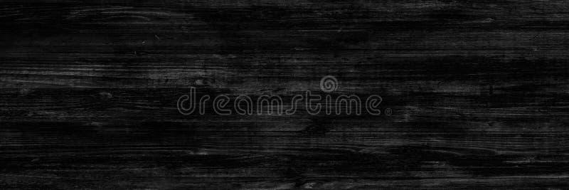 Fondo nero di legno, struttura astratta di legno scura fotografia stock libera da diritti