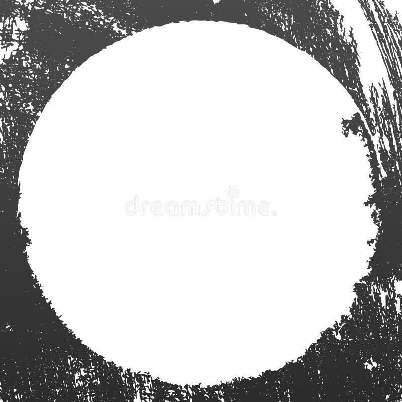 Fondo nero di lerciume, sudicio, graffiato astratto Vettore illustrazione vettoriale