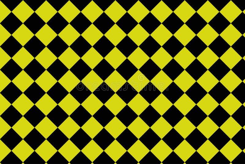 Fondo nero e giallo della scacchiera - ilustration di vettore - ENV 10 illustrazione vettoriale