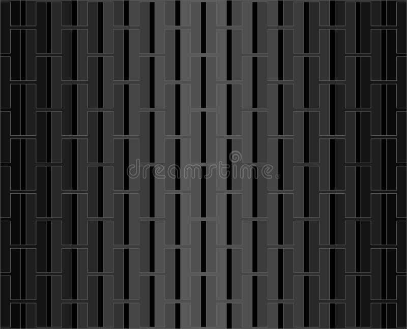 Fondo nero e grigio del modello di alfabeto di H illustrazione di stock