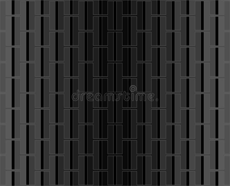 Fondo nero e grigio del modello di alfabeto di H illustrazione vettoriale