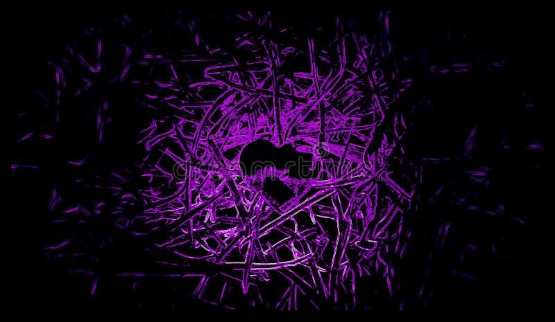 Fondo nero e rosa di poco cuore illustrazioni illustrazione vettoriale