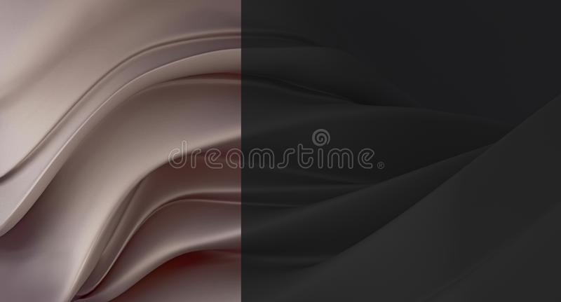 Fondo nero elegante e di lusso con il segmento grigio-braun della perla Fusione del liquido spesso Fondo costoso per il biglietto royalty illustrazione gratis