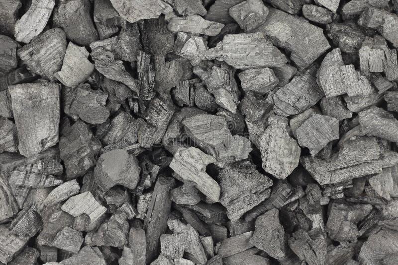 Fondo nero macinato del carbone fotografia stock libera da diritti