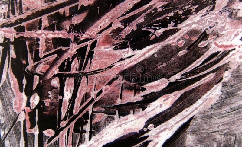 Fondo nero rosa dei colpi del pennello fotografia stock libera da diritti