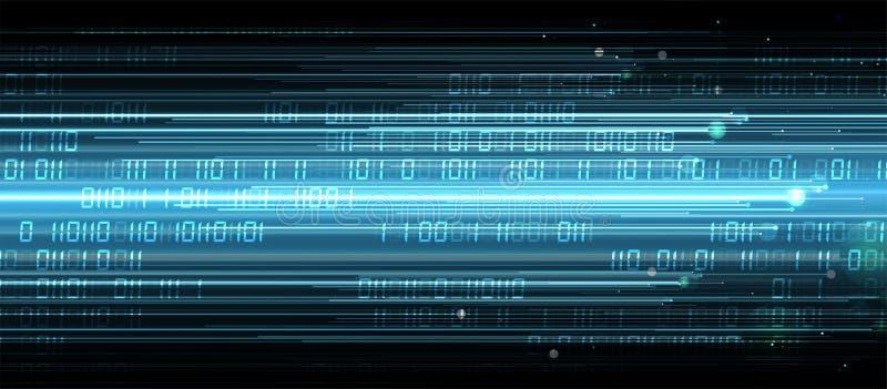 Fondo neurale futuristico astratto di affari di tecnologie informatiche illustrazione di stock