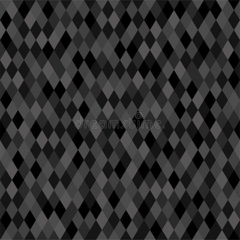 Fondo neutrale scuro senza cuciture del pixel illustrazione di stock