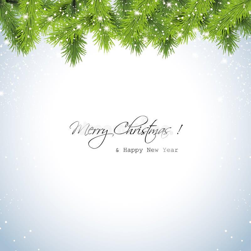 Fondo nevoso de la Navidad libre illustration