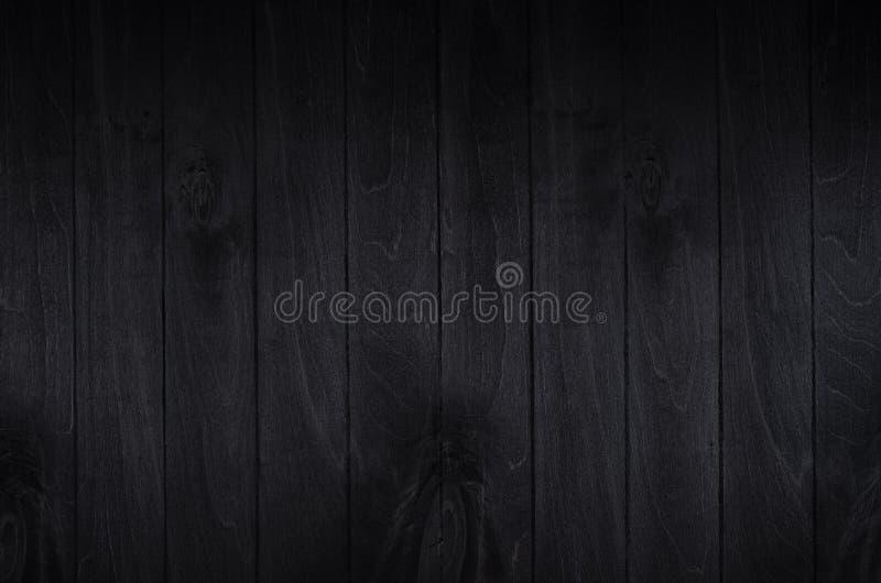 Fondo noir del bordo di legno del nero di eleganza Struttura di legno fotografie stock
