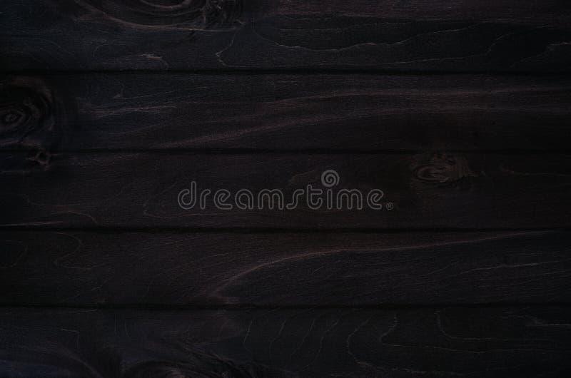 Fondo noir del bordo di legno del nero di eleganza Struttura di legno fotografia stock libera da diritti