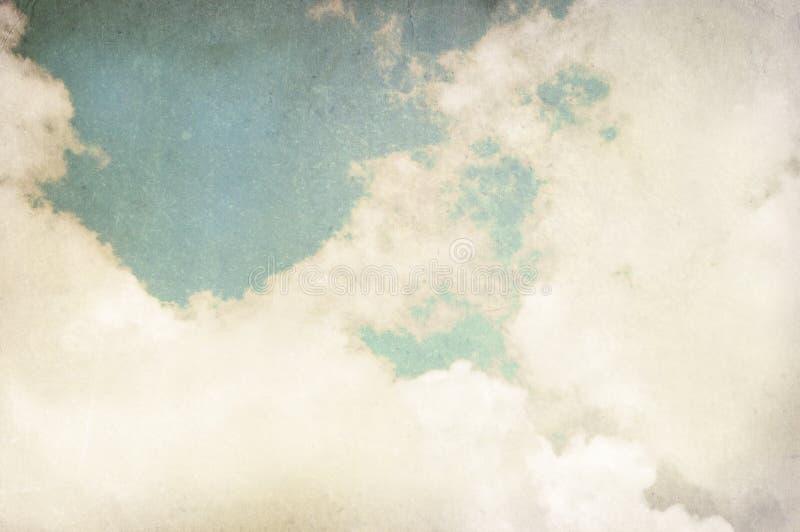 Fondo nublado de la vendimia fotografía de archivo libre de regalías