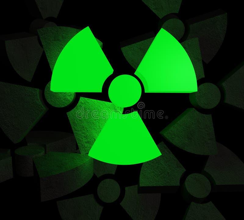Fondo nuclear stock de ilustración