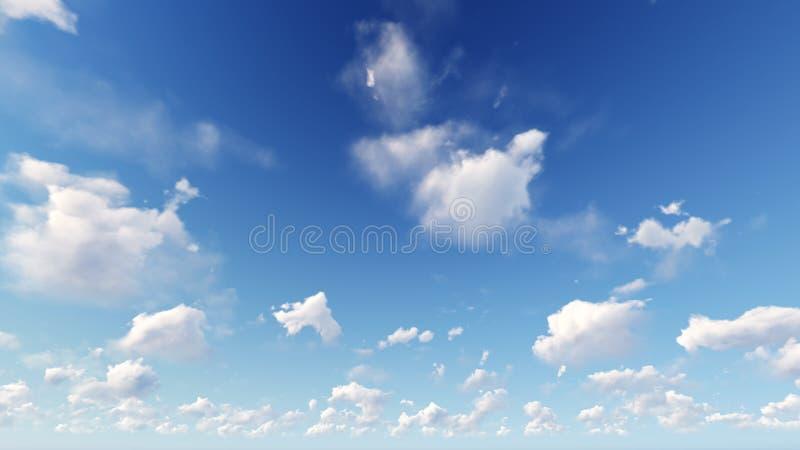 Fondo nuvoloso dell'estratto del cielo blu, illustrazione 3d immagine stock libera da diritti