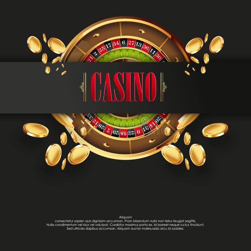 Fondo o aviador del cartel del logotipo del casino stock de ilustración