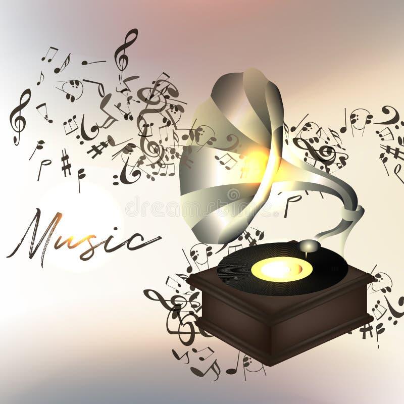 Fondo o ejemplo de la música con las notas libre illustration