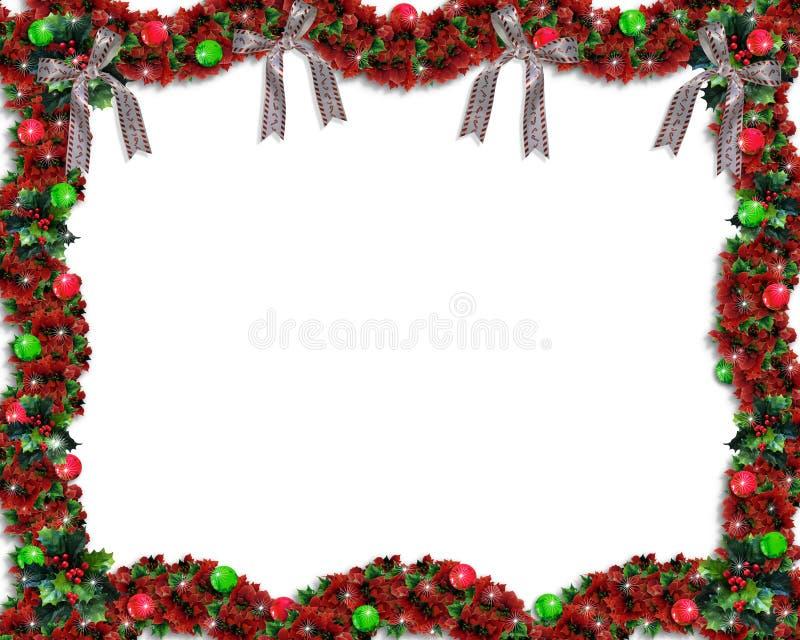 Fondo o frontera de la guirnalda de la Navidad ilustración del vector