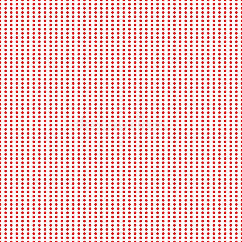 Fondo o modello rosso del tessuto del punto di Polka royalty illustrazione gratis