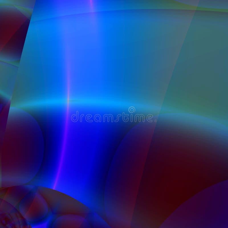 Fondo o papel pintado abstracto en cortinas del azul y del verde ilustración del vector