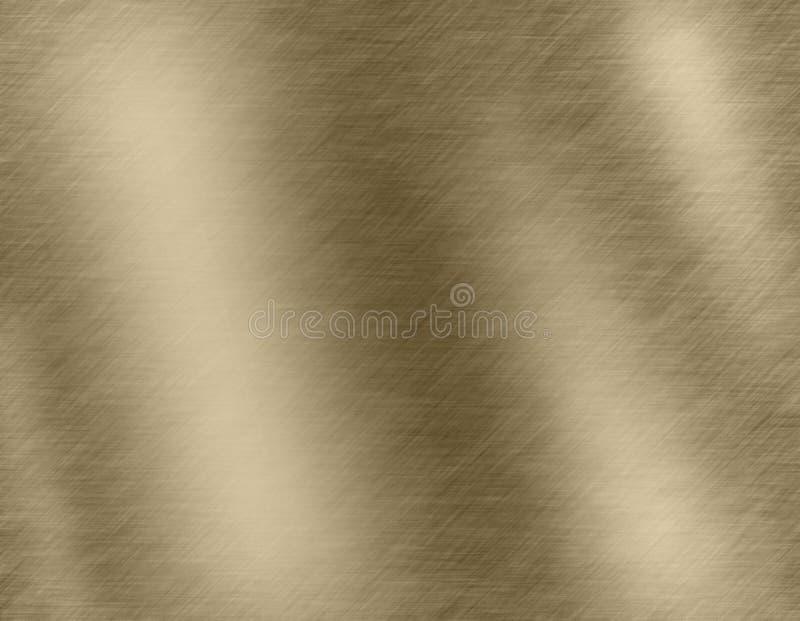 Fondo o struttura astratto del metallo dell'oro illustrazione vettoriale