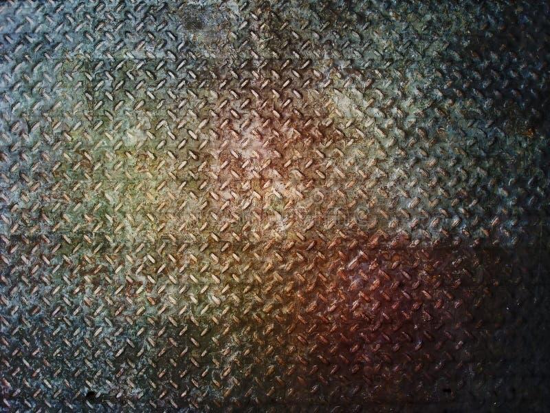 Fondo o struttura del piatto del diamante del metallo di lerciume fotografia stock