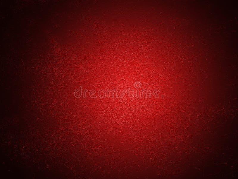 Fondo o struttura rosso della parete della pittura del grano immagini stock libere da diritti