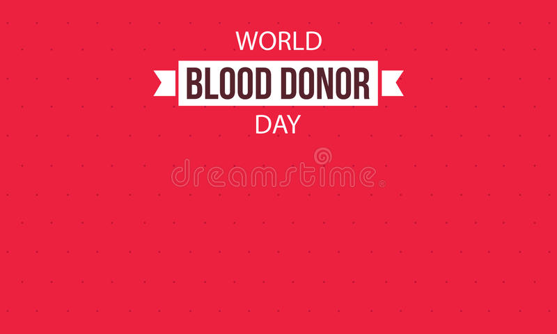 Fondo o tarjeta del día del donante de sangre del mundo libre illustration