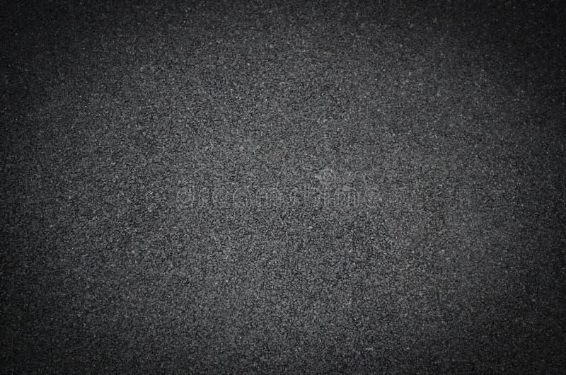 Fondo o textura negro, asfalto del camino imágenes de archivo libres de regalías