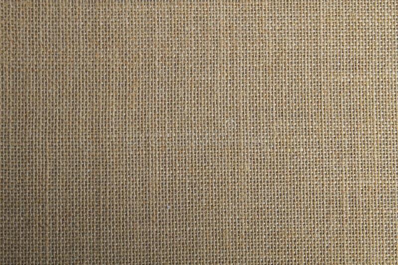 Fondo o textura vegetal de la tela de la fibra del yute foto de archivo