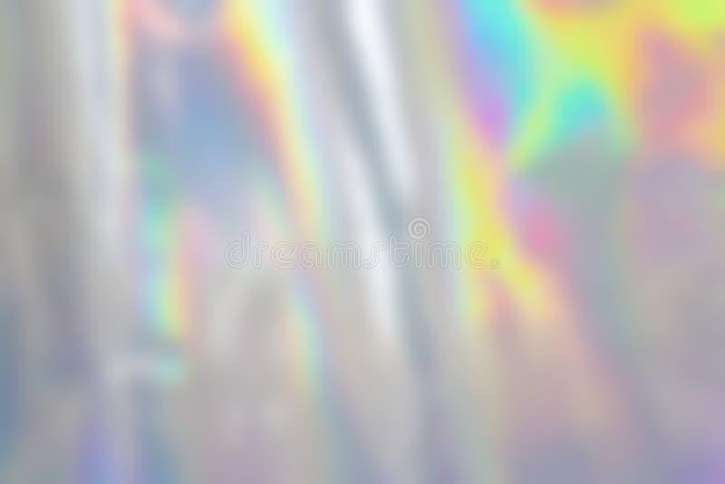 Fondo olográfico en colores pastel abstracto borroso de la hoja fotografía de archivo