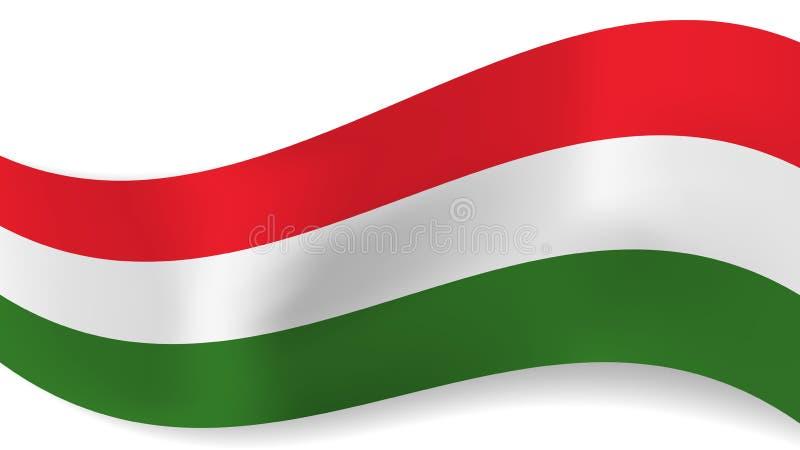 Fondo ondulado abstracto de la bandera de Hungría stock de ilustración