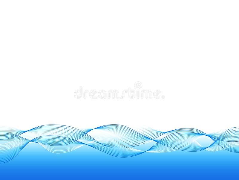 Fondo ondulado azul ilustración del vector