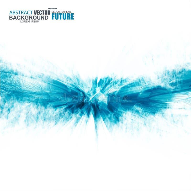 Fondo ondulado azul futurista abstracto stock de ilustración