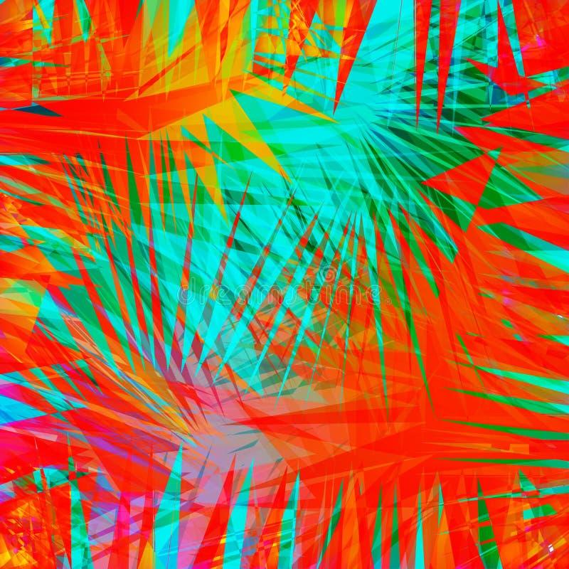 Fondo ondulado colorido abstracto Capa brillante de la pendiente Cartel brillante, bandera, elemento del diseño web en colores vi ilustración del vector