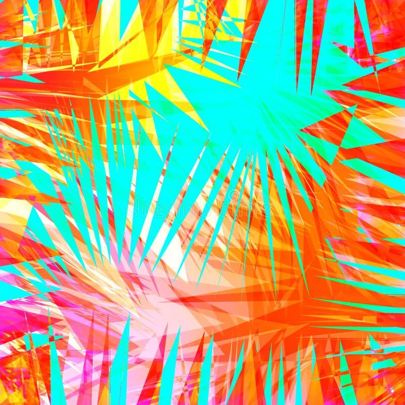 Fondo ondulado colorido abstracto Capa brillante de la pendiente Cartel brillante, bandera, elemento del diseño web en colores vi stock de ilustración