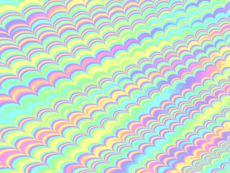 Fondo ondulado de la hoja del arco iris olográfico del modelo libre illustration