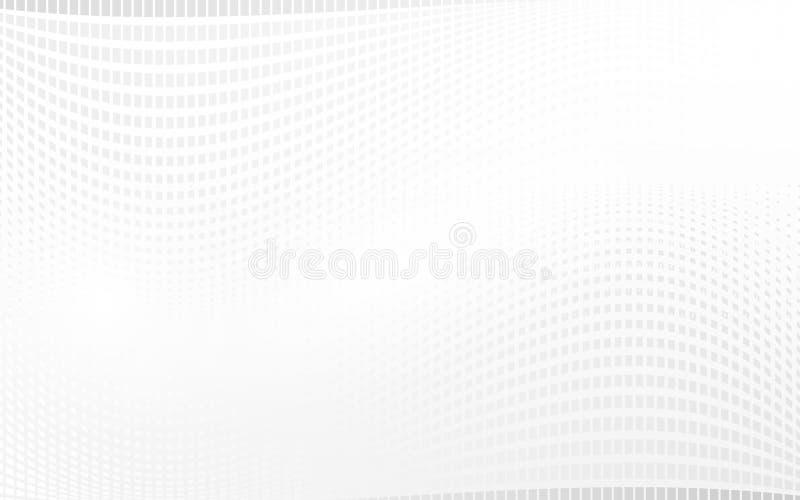 Fondo ondulado de los rectángulos blancos abstractos stock de ilustración