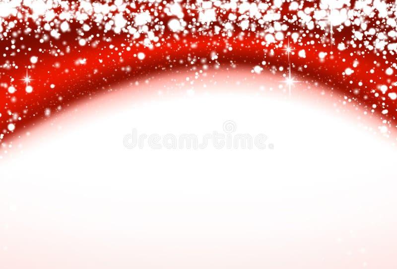 Fondo ondulado rojo de la Navidad con las estrellas ilustración del vector