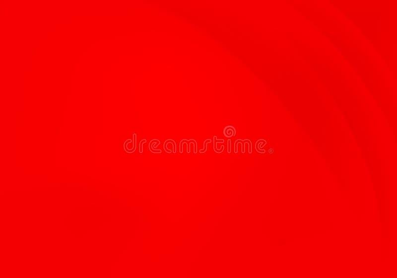 Fondo ondulado rojo del extracto del vector Ejemplo del movimiento del flujo de la curva libre illustration