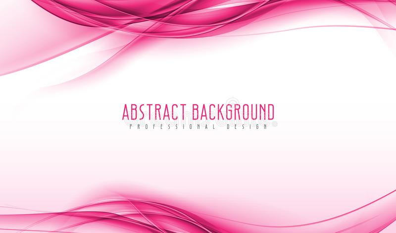 Fondo ondulado rosado moderno abstracto del humo Ejemplos geométricos asombrosos del vector con eps10 libre illustration