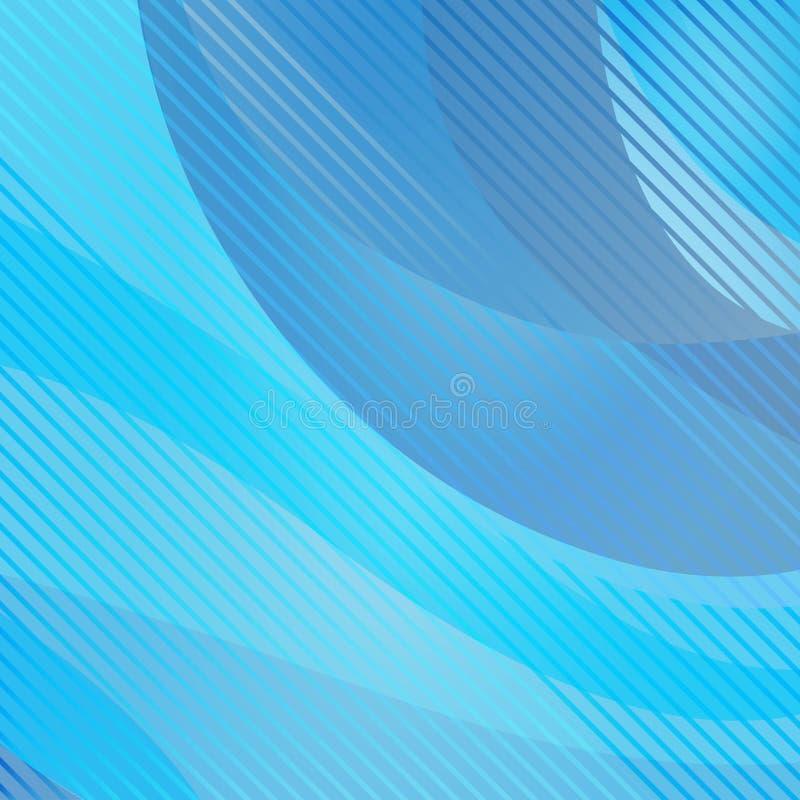 Fondo ondulado y rayado abstracto, color azul Vector stock de ilustración