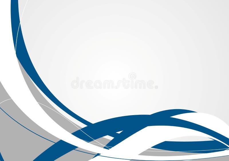 Fondo ondulato astratto di grey blu royalty illustrazione gratis