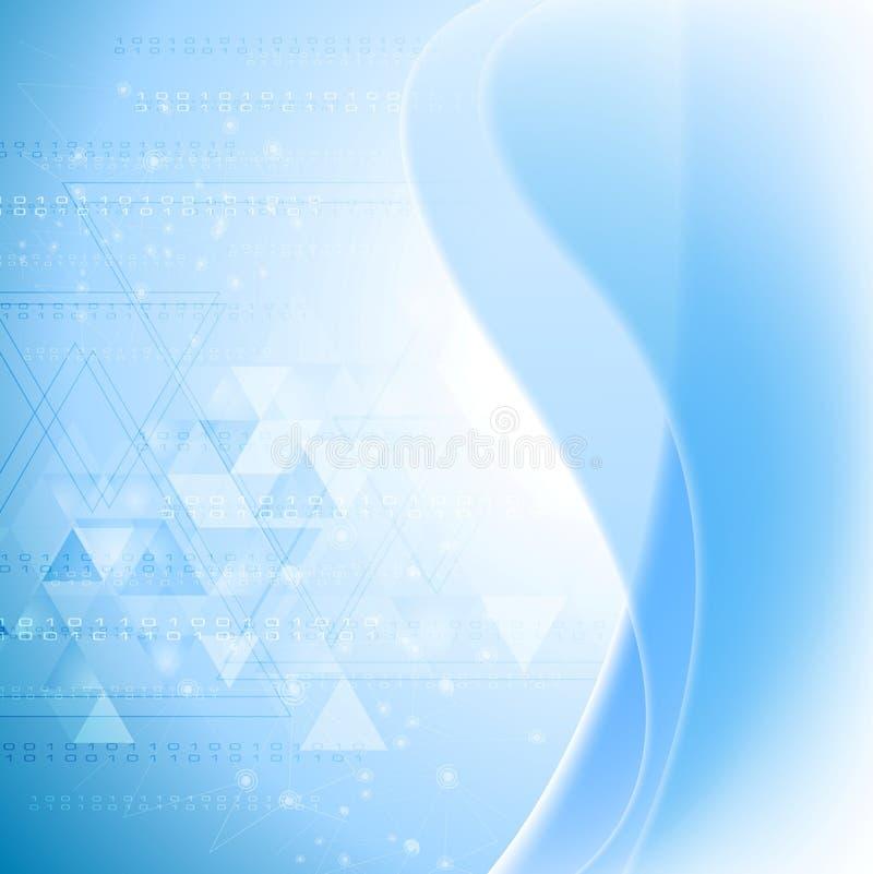 Fondo ondulato astratto di tecnologia Maglia di gradiente illustrazione vettoriale