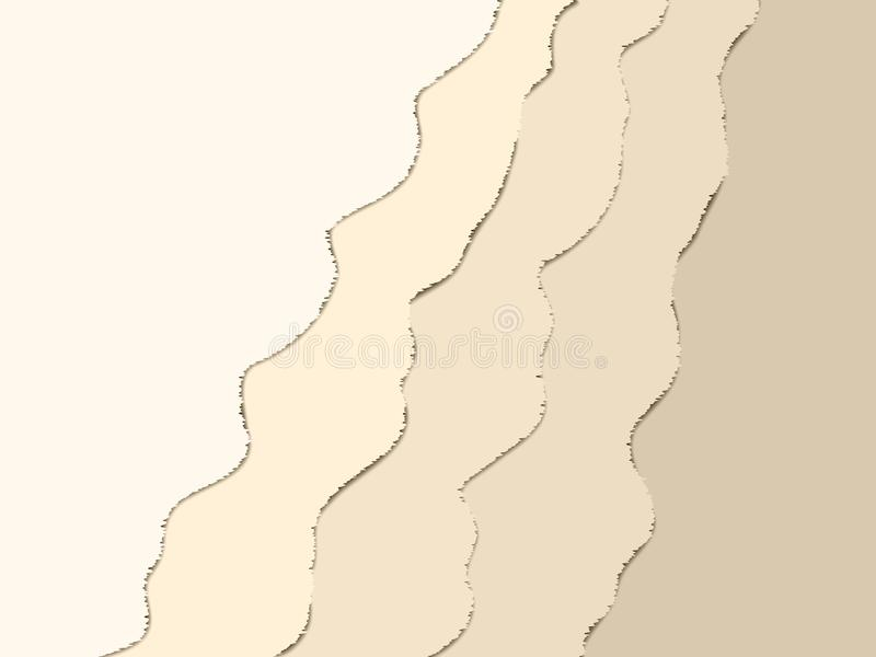 Fondo ondulato astratto di vettore per progettazione illustrazione di stock
