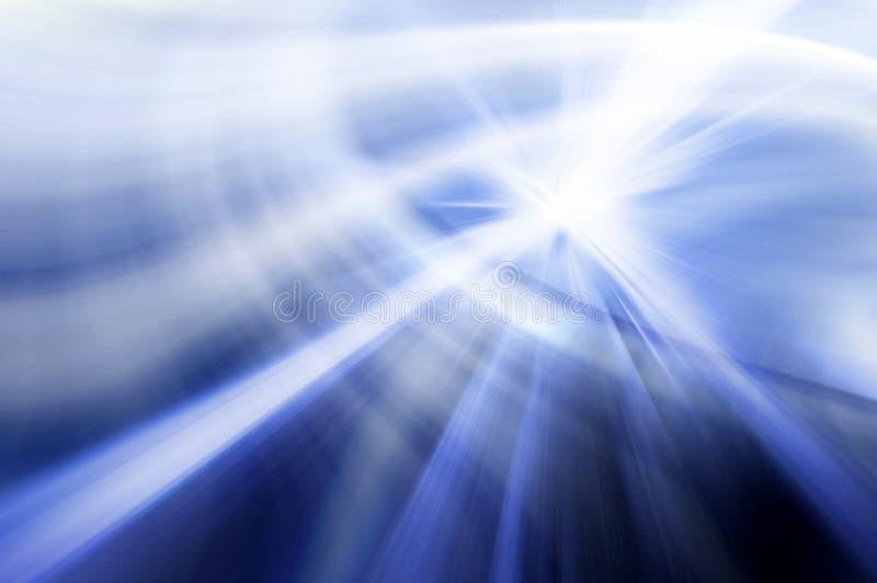 Fondo ondulato astratto nei colori blu e bianchi royalty illustrazione gratis
