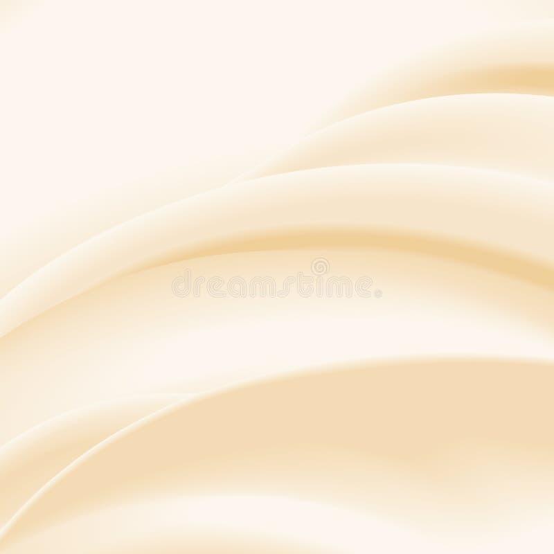 Fondo ondulato beige immagine stock