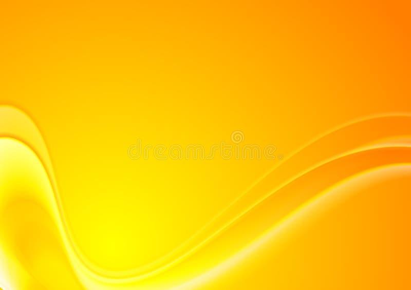 Fondo ondulato giallo arancione astratto di vettore illustrazione vettoriale